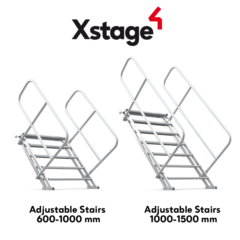 Xstage Adjustable  Stairs – Up On Stage!