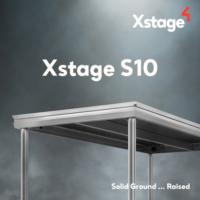 Xstage S10 – Lightweight stage deck that maintains impressive loading