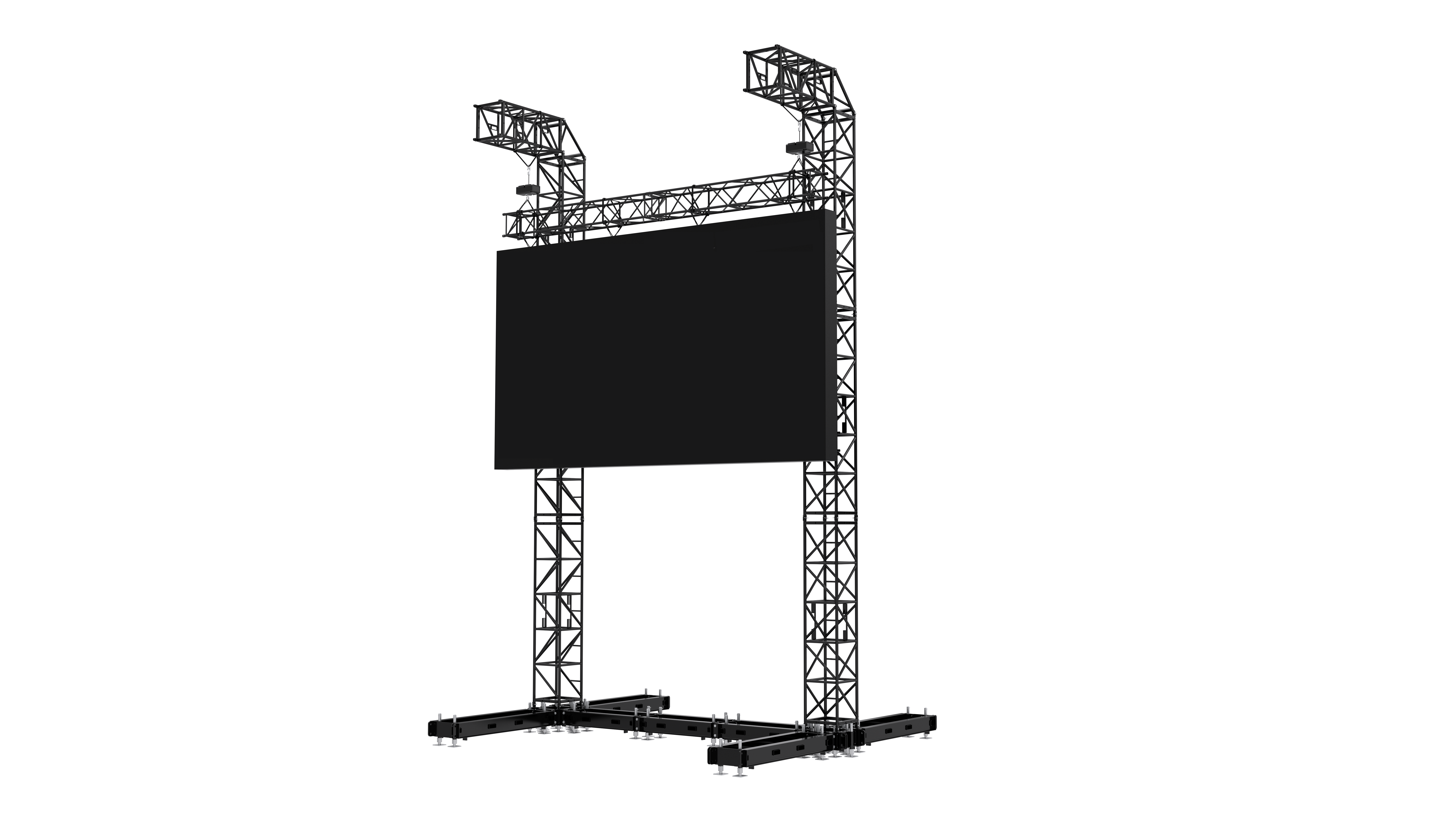 Support for the largest and heaviest LED screens